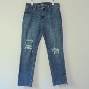 Old Navy Boyfriend Jeans Distressed Frayed Hem
